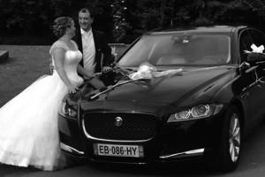 Voiture de luxe jaguar pour mariage